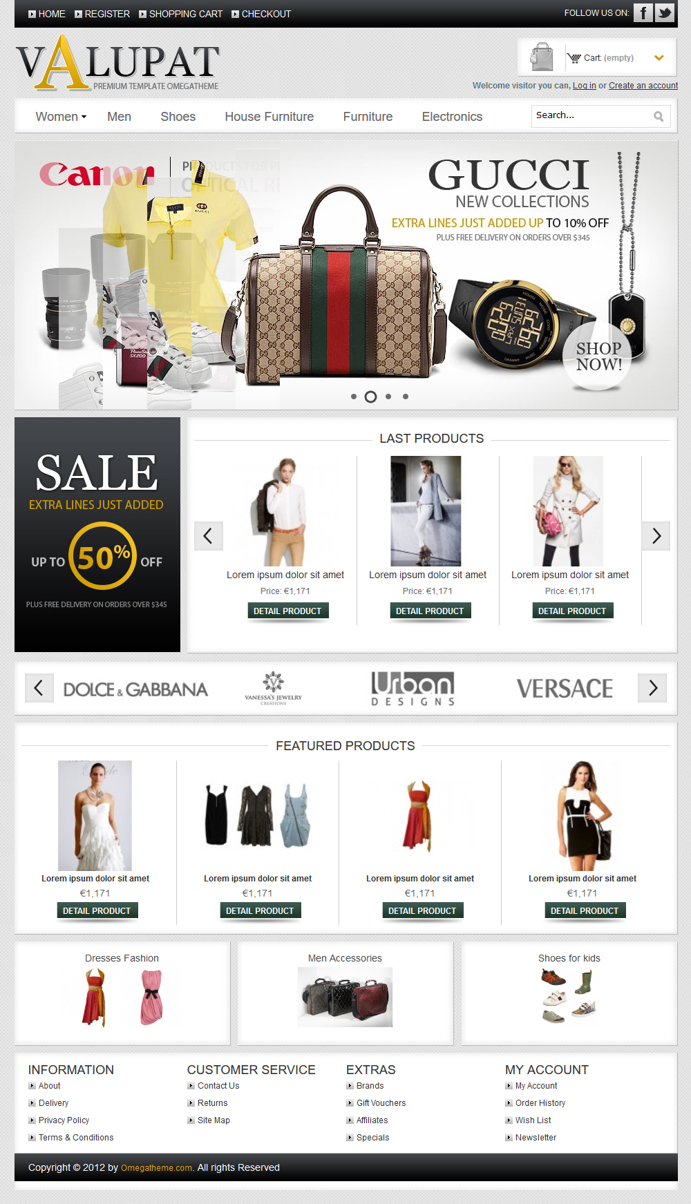 free online store template