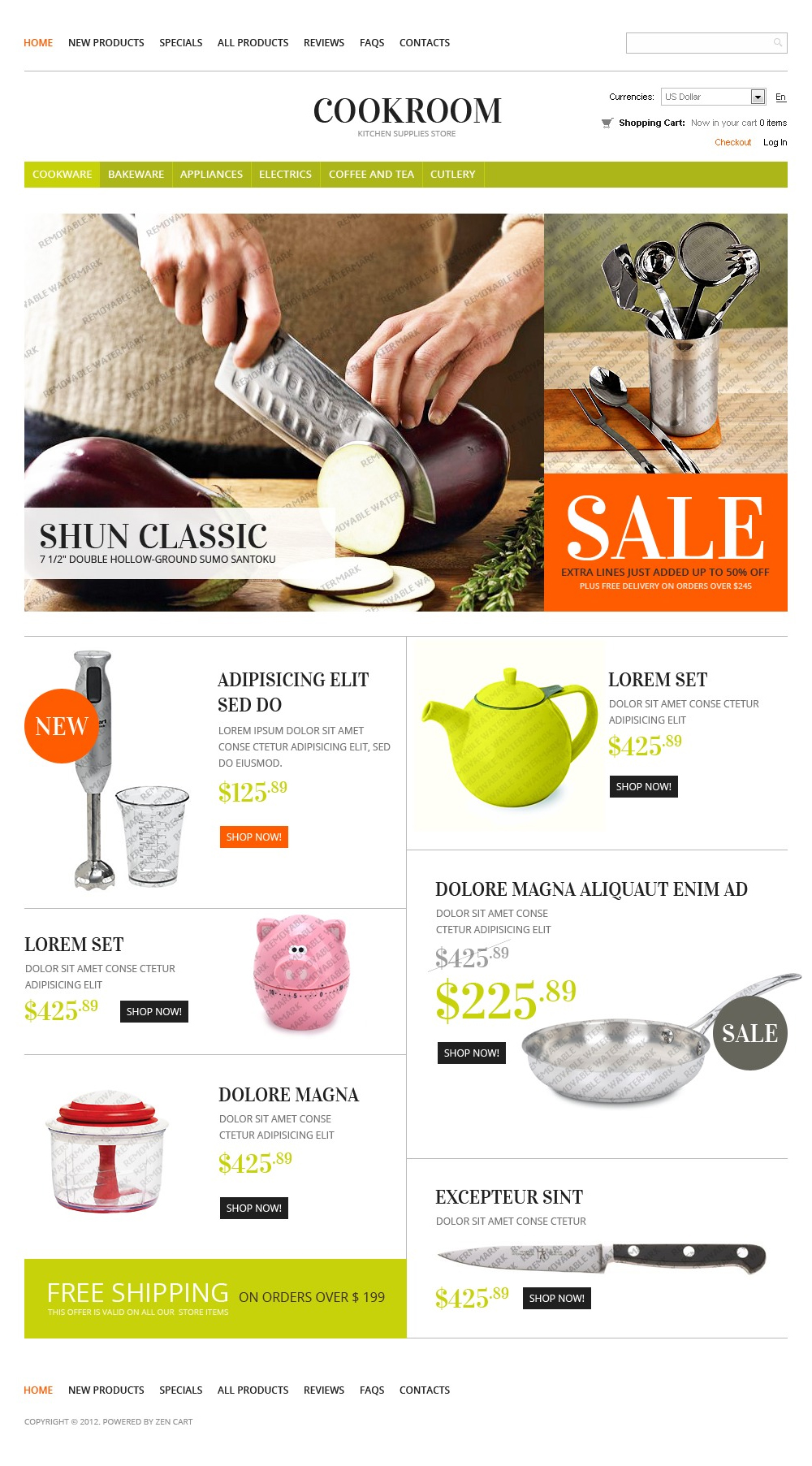 free online shop template
