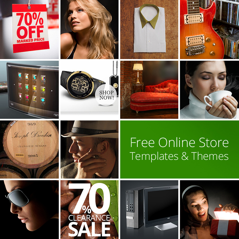 free online stores templates