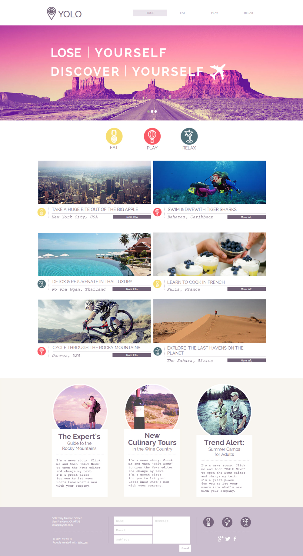 free joomla travel template