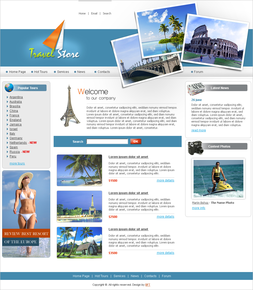 free travel flash templates