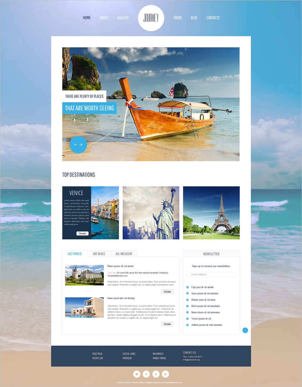 free travel css templates