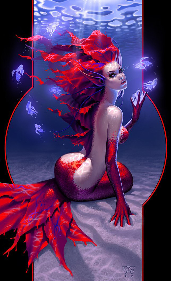 fire mermaid