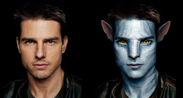 Na'vi Avatar Photo Manipulation movie photoshop tutorials