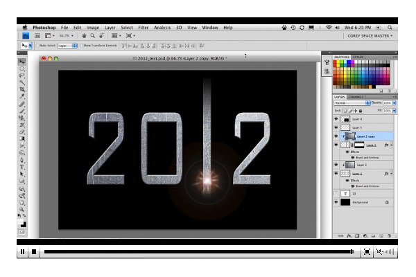 2012 Text Effect movie photosho tutorials