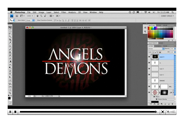 Angels and Demons movie photoshop tutorials