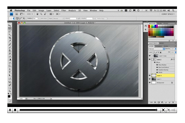 X-Men Logo movie photoshop