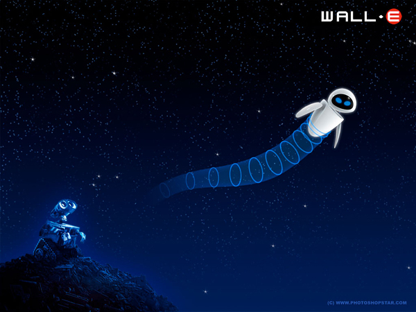 Wall-E Cartoon Style Wallpaper
