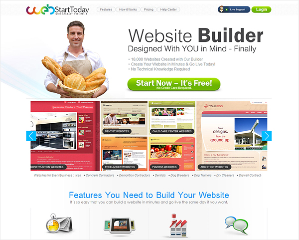 webstartstoday free web builder