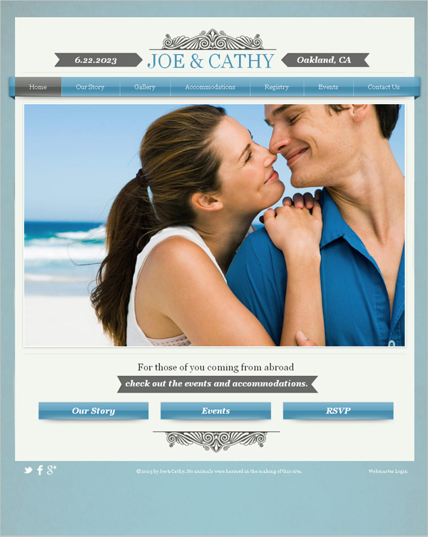 Classic Engagement HTML5 Template