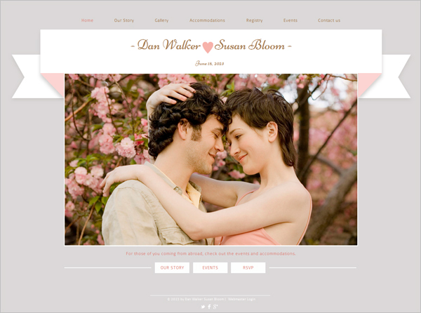 Romantic Engagement HTML5 Template