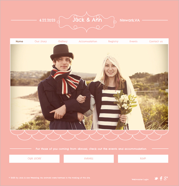 Free Wedding HTML5 Template
