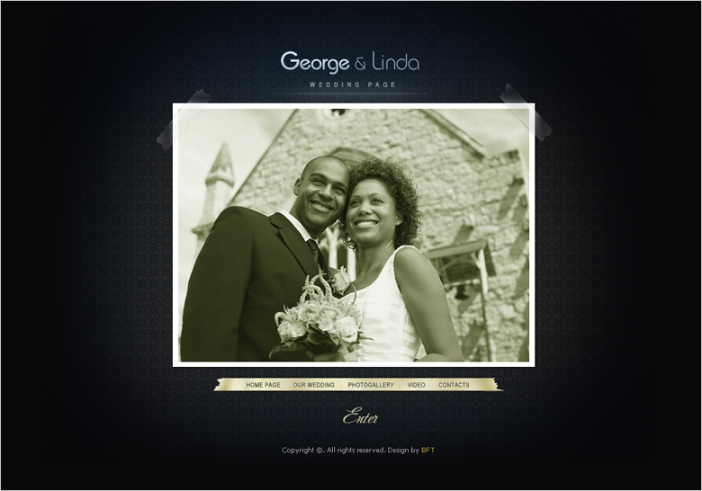 Free Wedding Website Template