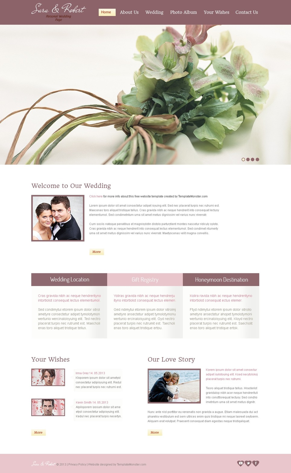 Free Wedding Page Flash Template