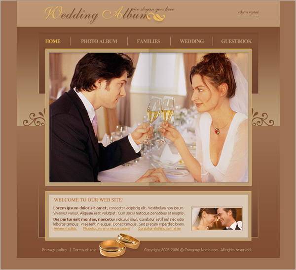 Free Wedding Album Flash Template